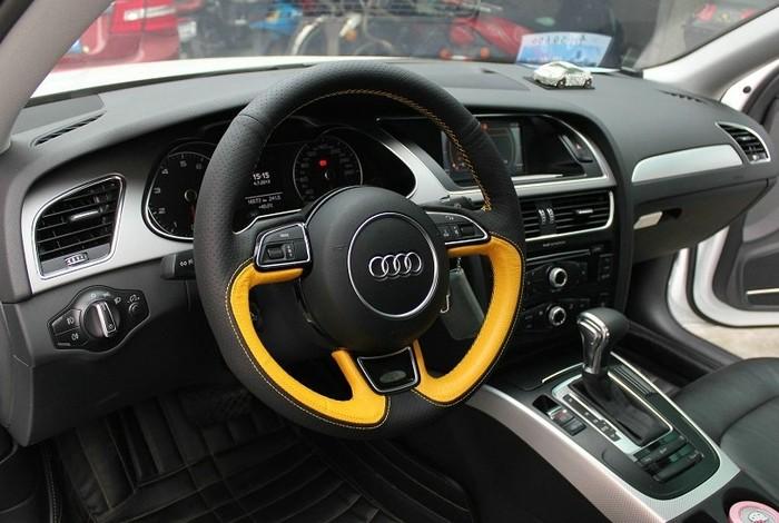 奥迪A6专用方向盘套 橙+黑色